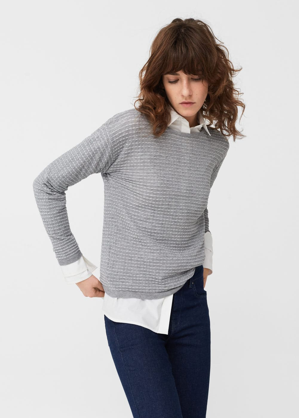 Metal thread sweater | MNG
