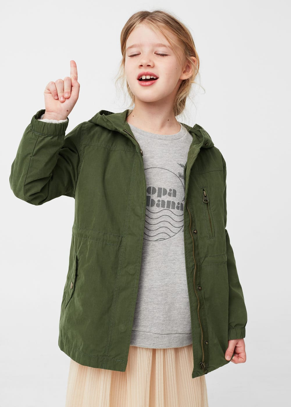 Faux shearling-lined quilted parka | MANGO KIDS