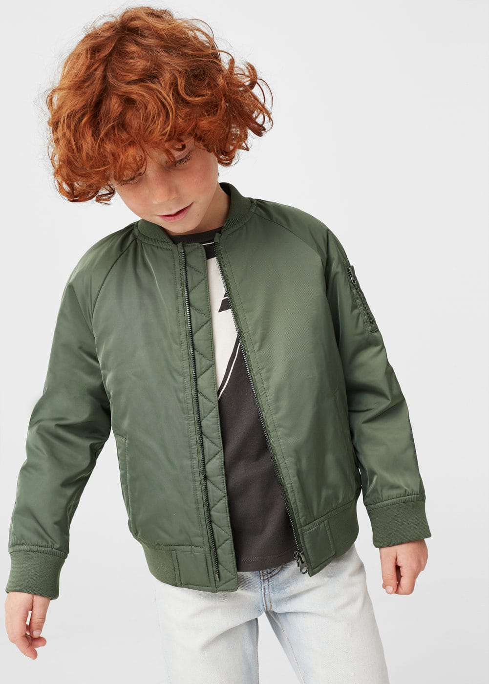 Quilted bomber jacket | MANGO KIDS