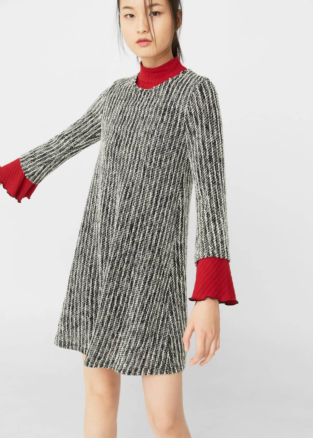 Jacquard jersey dress | MANGO