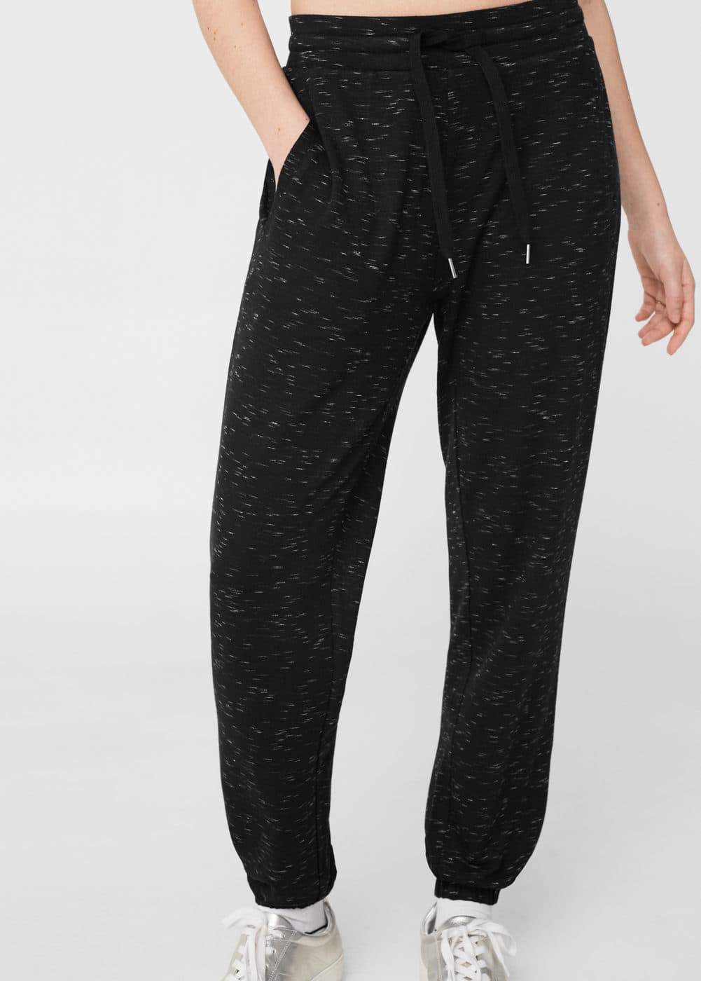 Flecked baggy trousers | MANGO