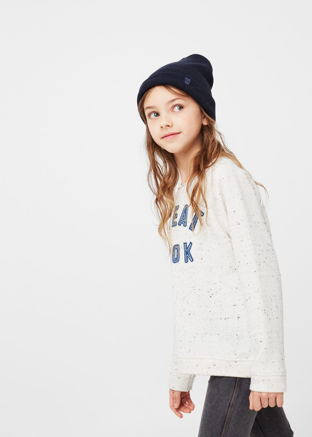 Flecked message sweatshirt | MANGO