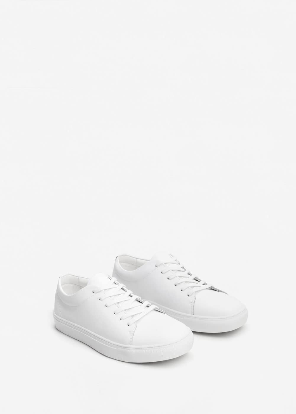 Lace-up leather sneakers | MANGO MAN