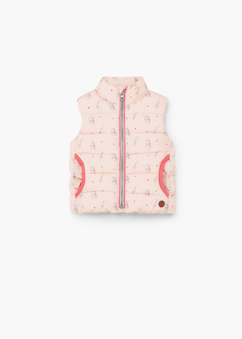 Printed quilted gilet | MANGO KIDS