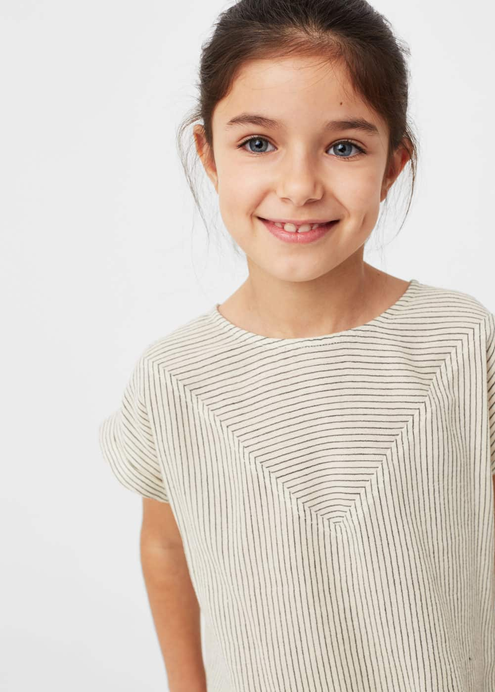 Textured cotton shirt | MANGO KIDS