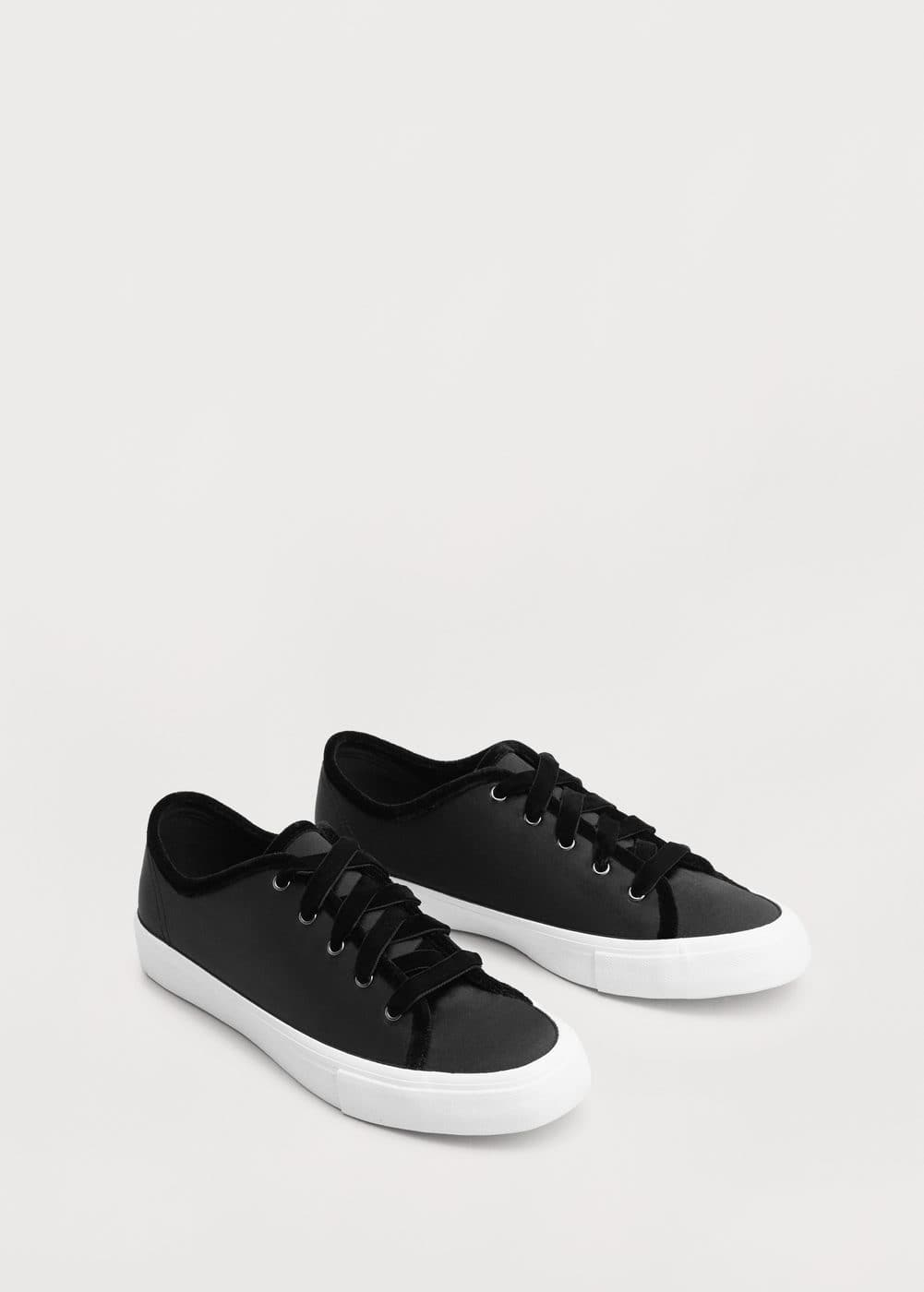 Satined velvet sneakers | MANGO