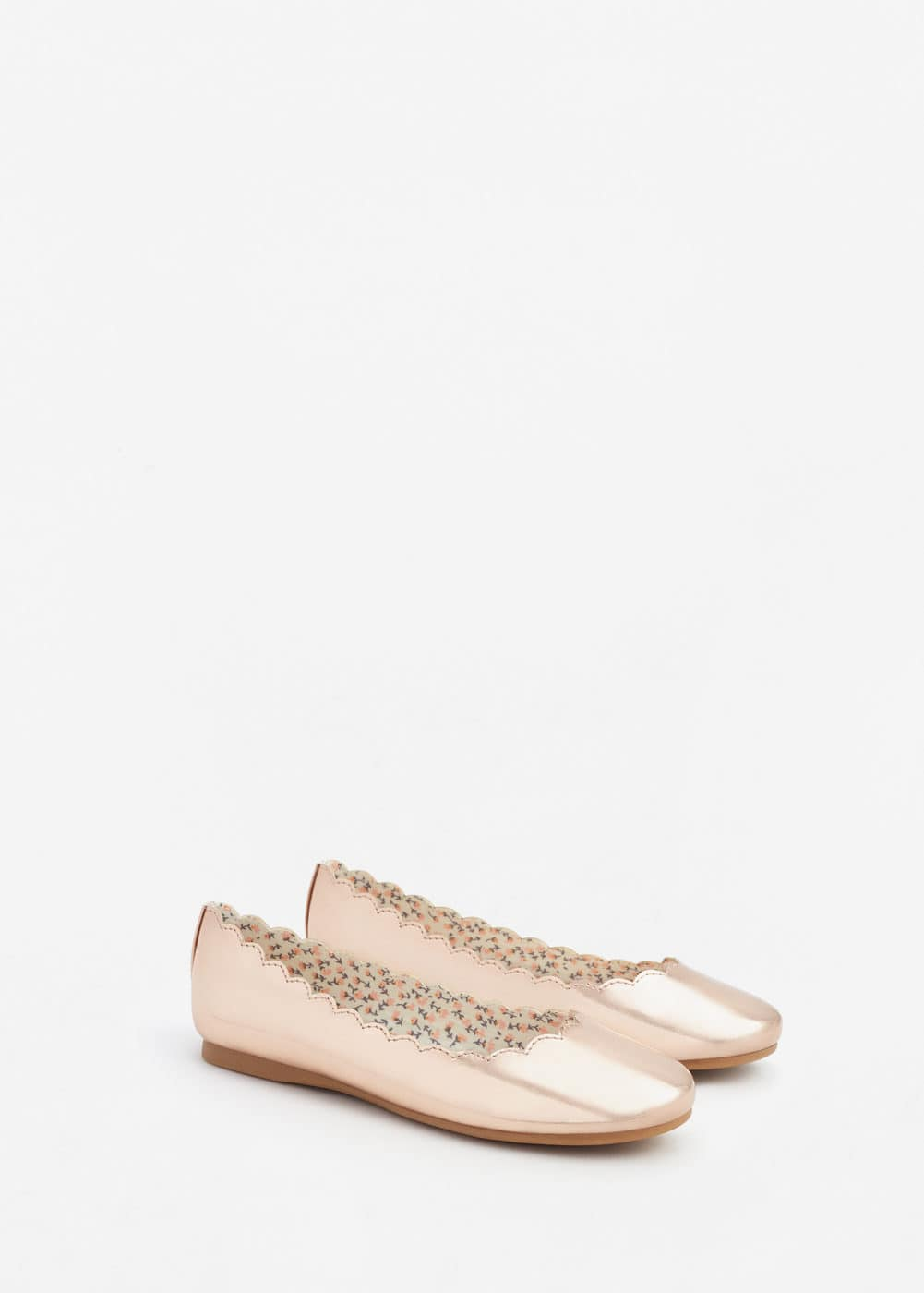Metallic finish ballerinas | MNG