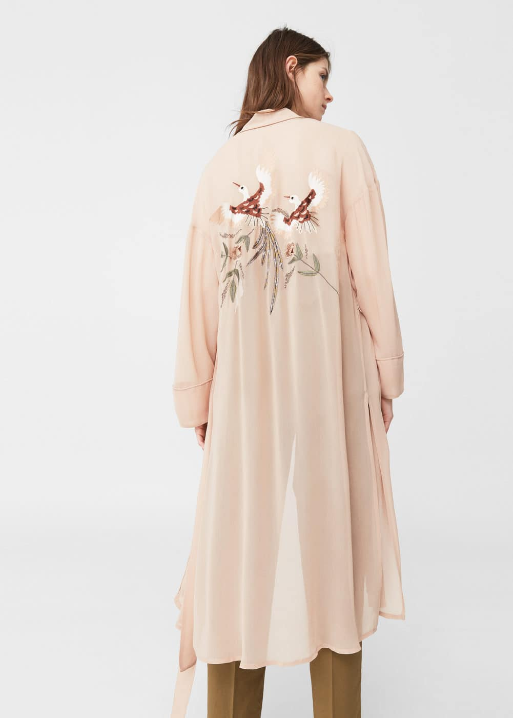 Embroidered kaftan | MANGO