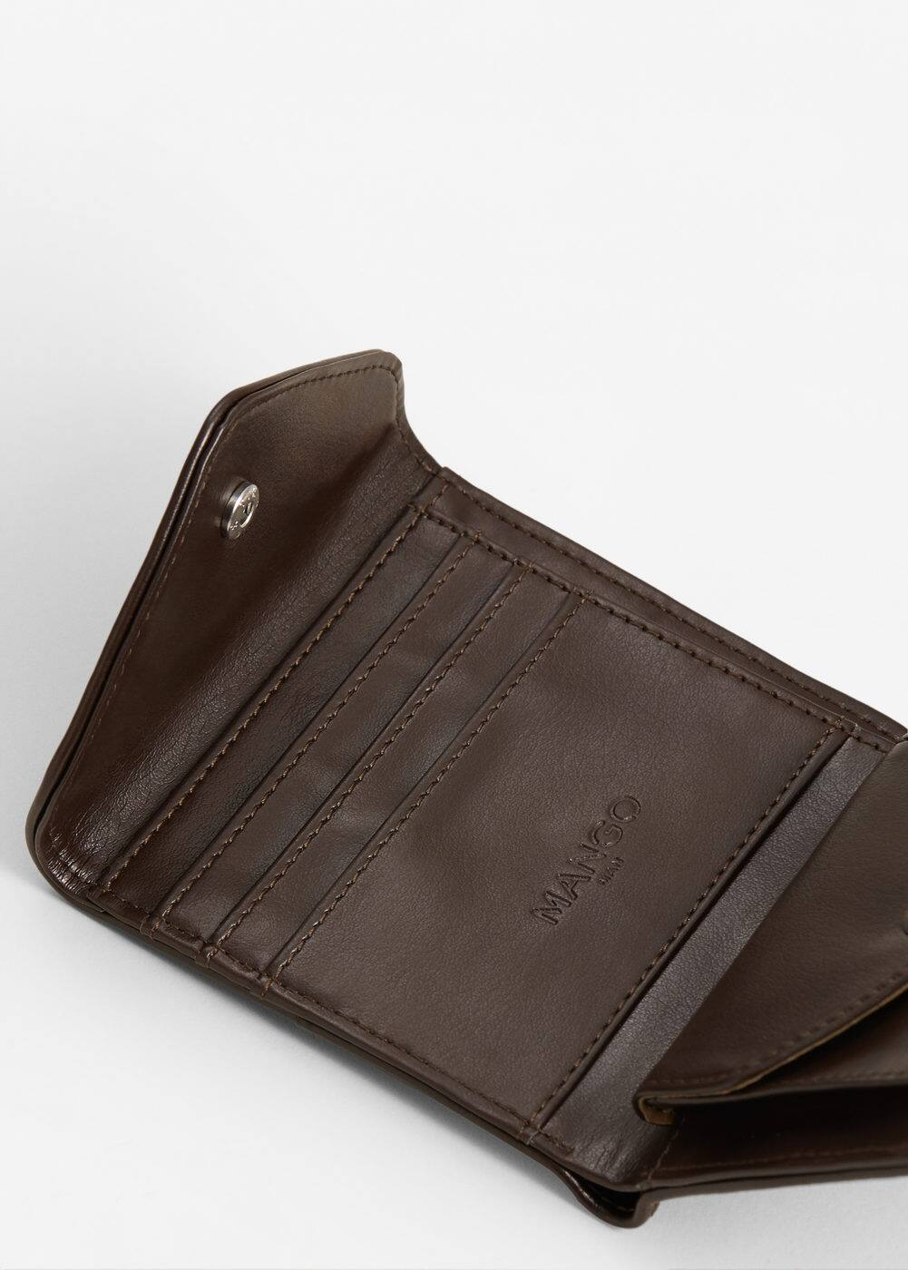 Canvas mixed wallet | MANGO MAN