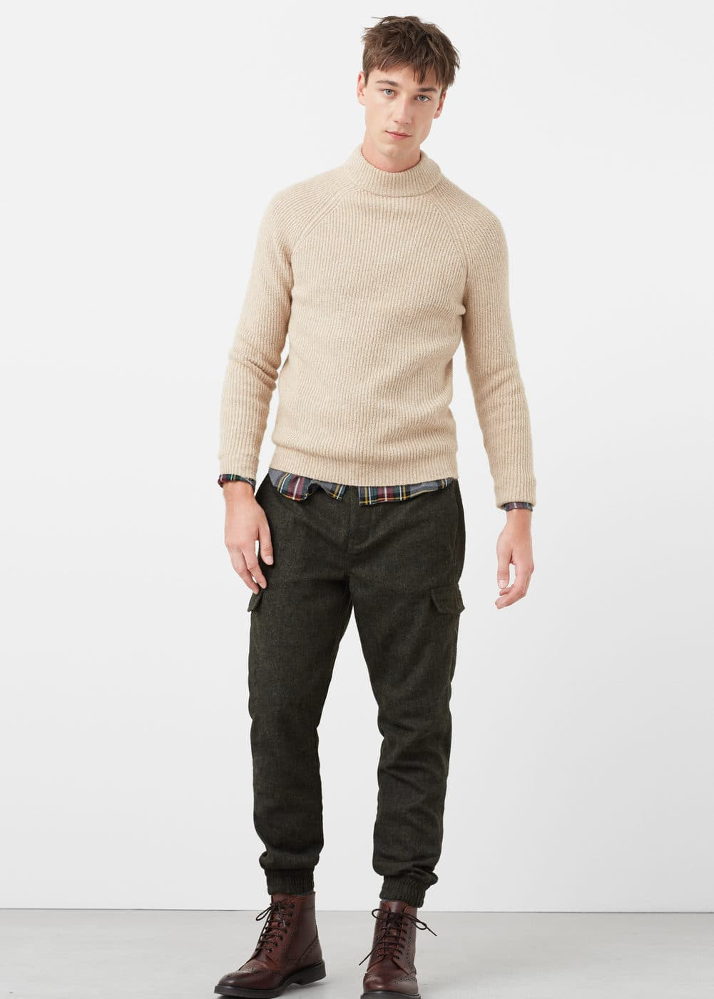 Wool-blend cargo trousers | MANGO