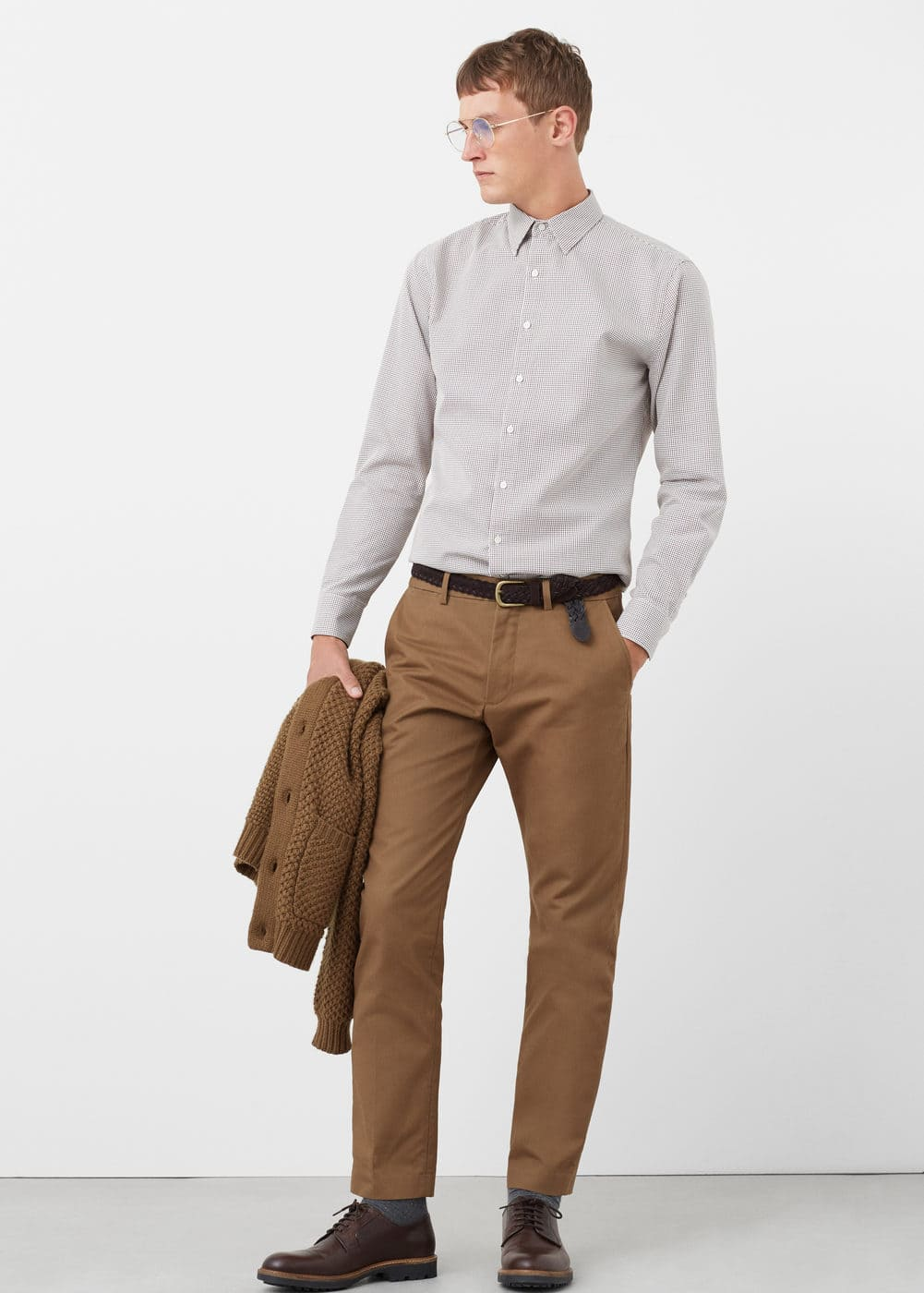 Slim-fit textured shirt | MANGO