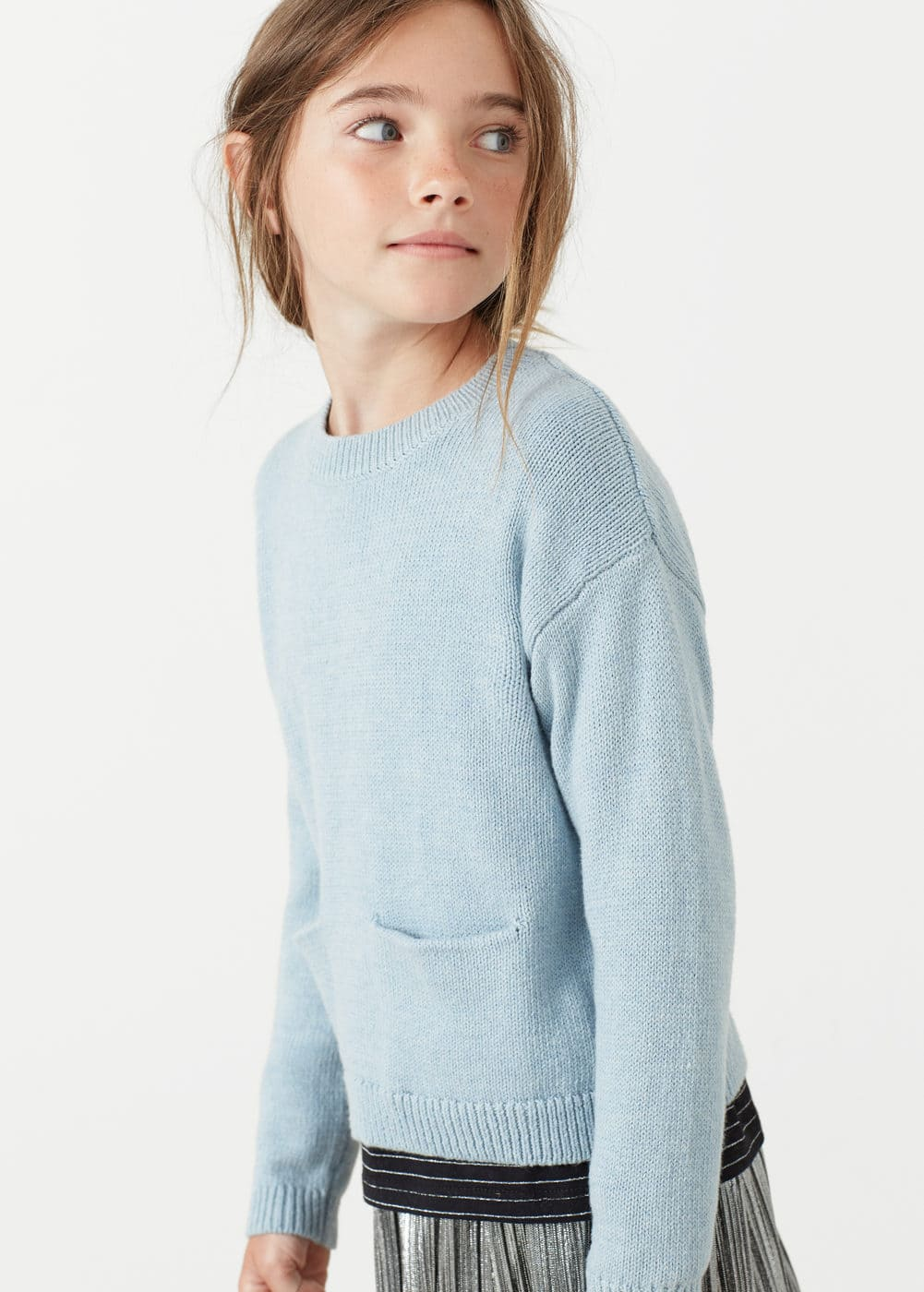 Patch pocket cotton sweater | MANGO