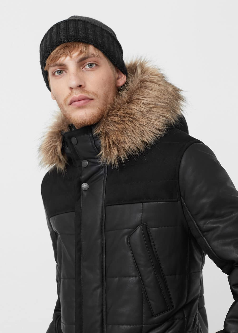 Mixed quilted jacket | MANGO MAN