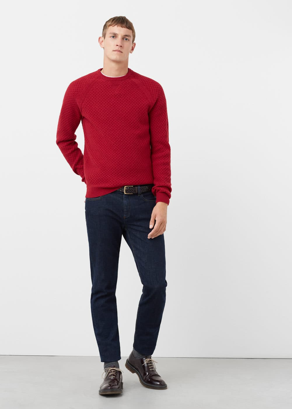 Raglan sleeve wool-blend sweater | MANGO MAN