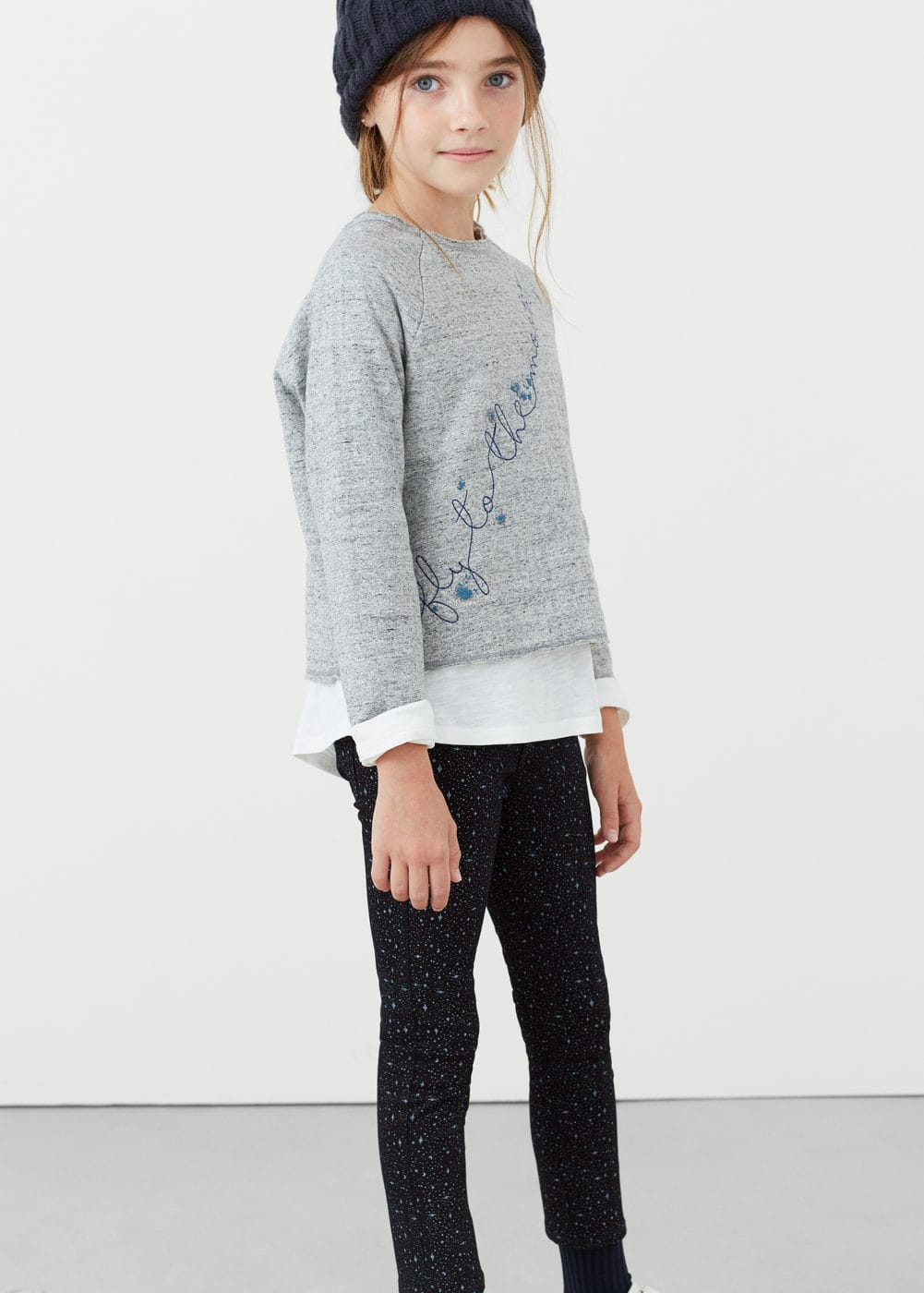 Slim-fit printed jeans | MANGO KIDS