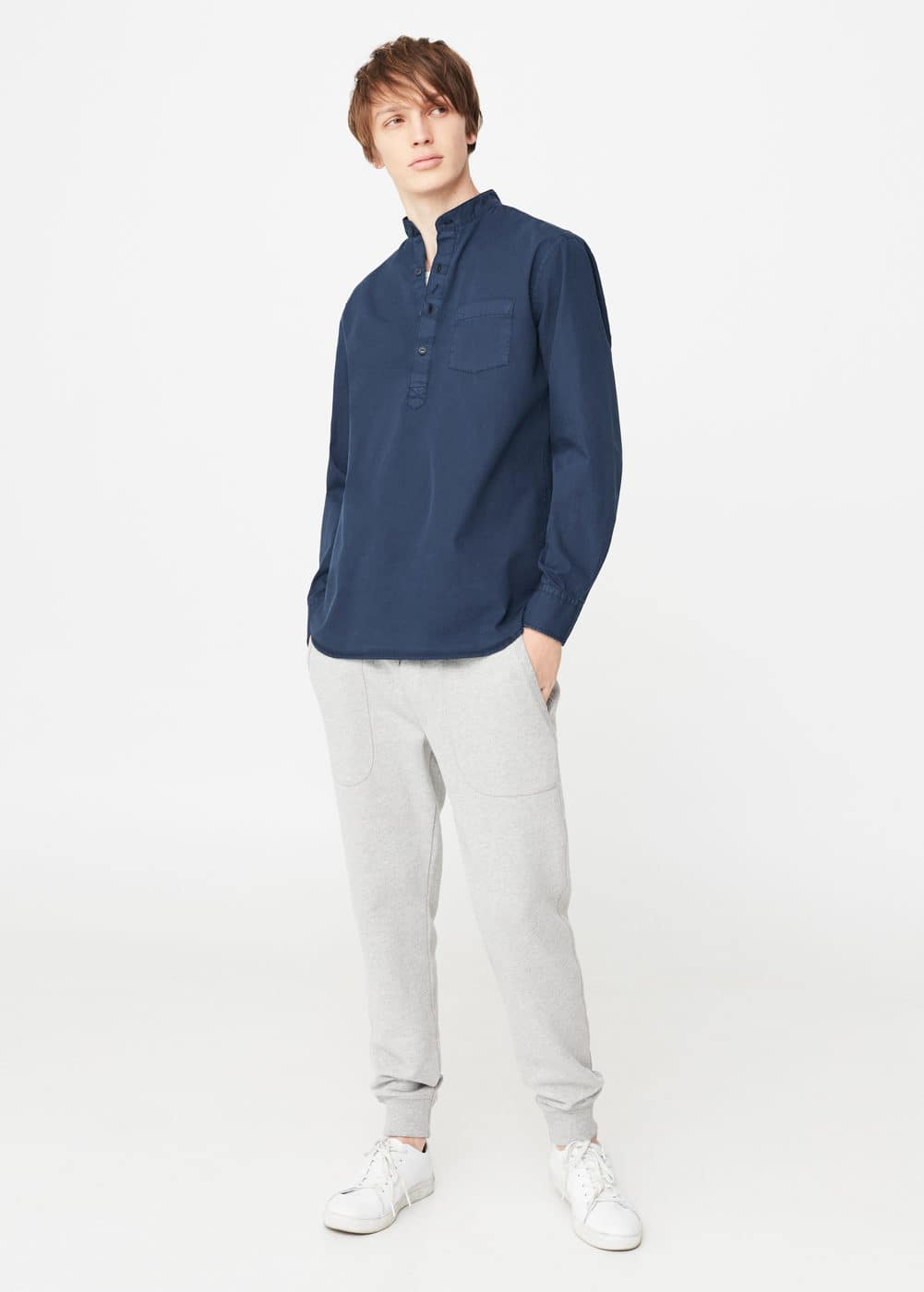Regular-fit chest-pocket shirt | MANGO MAN
