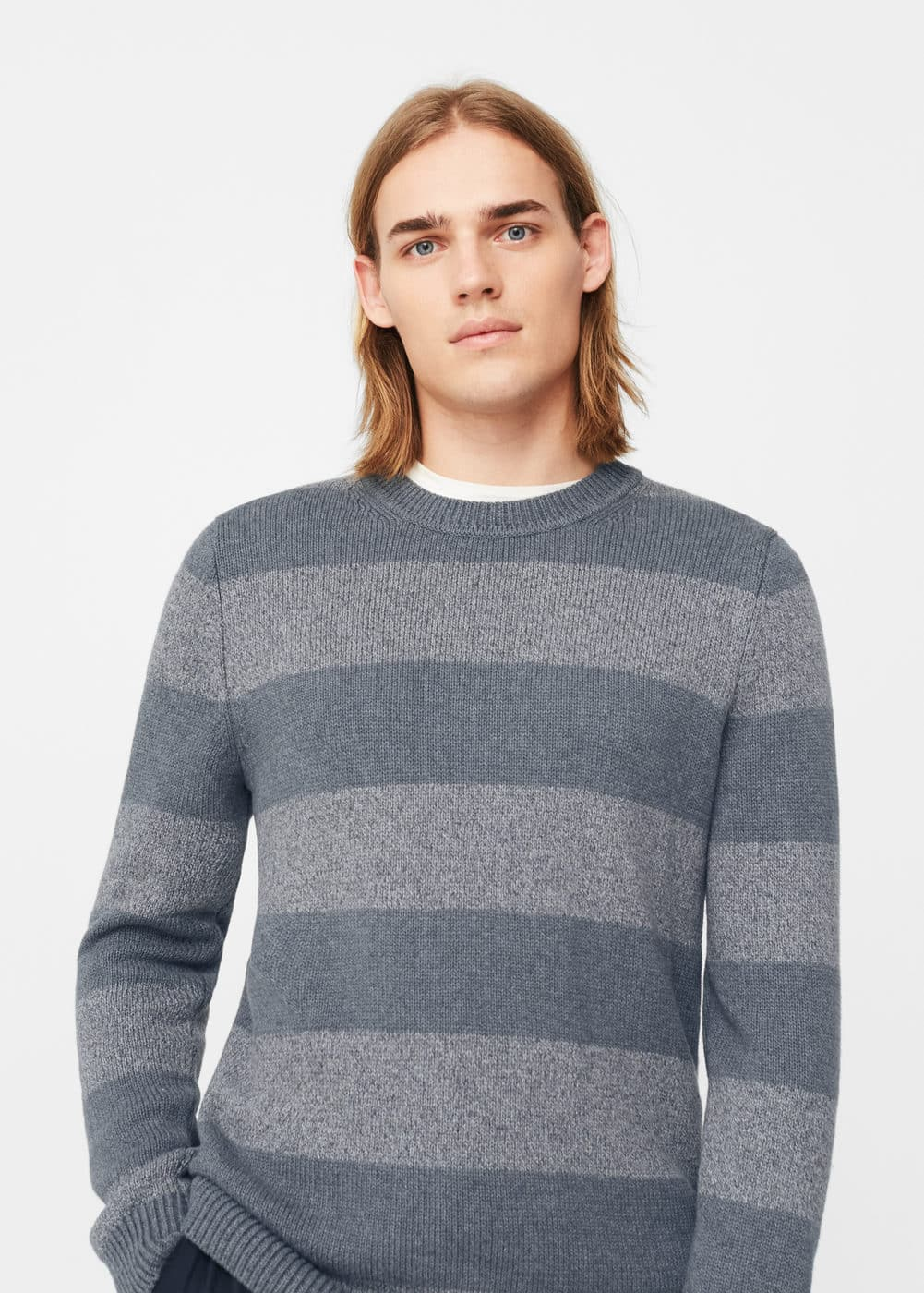 Pull-over à rayures coton | MANGO