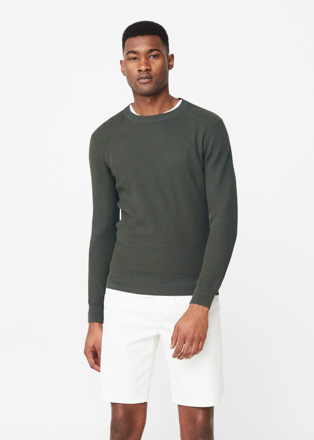 Round neck sweater | MANGO MAN