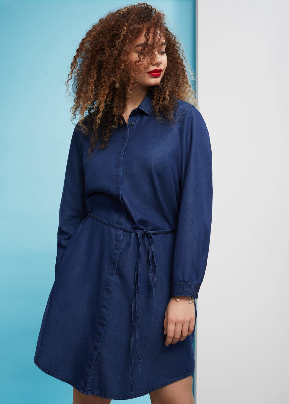 Dark denim dress | VIOLETA BY MANGO
