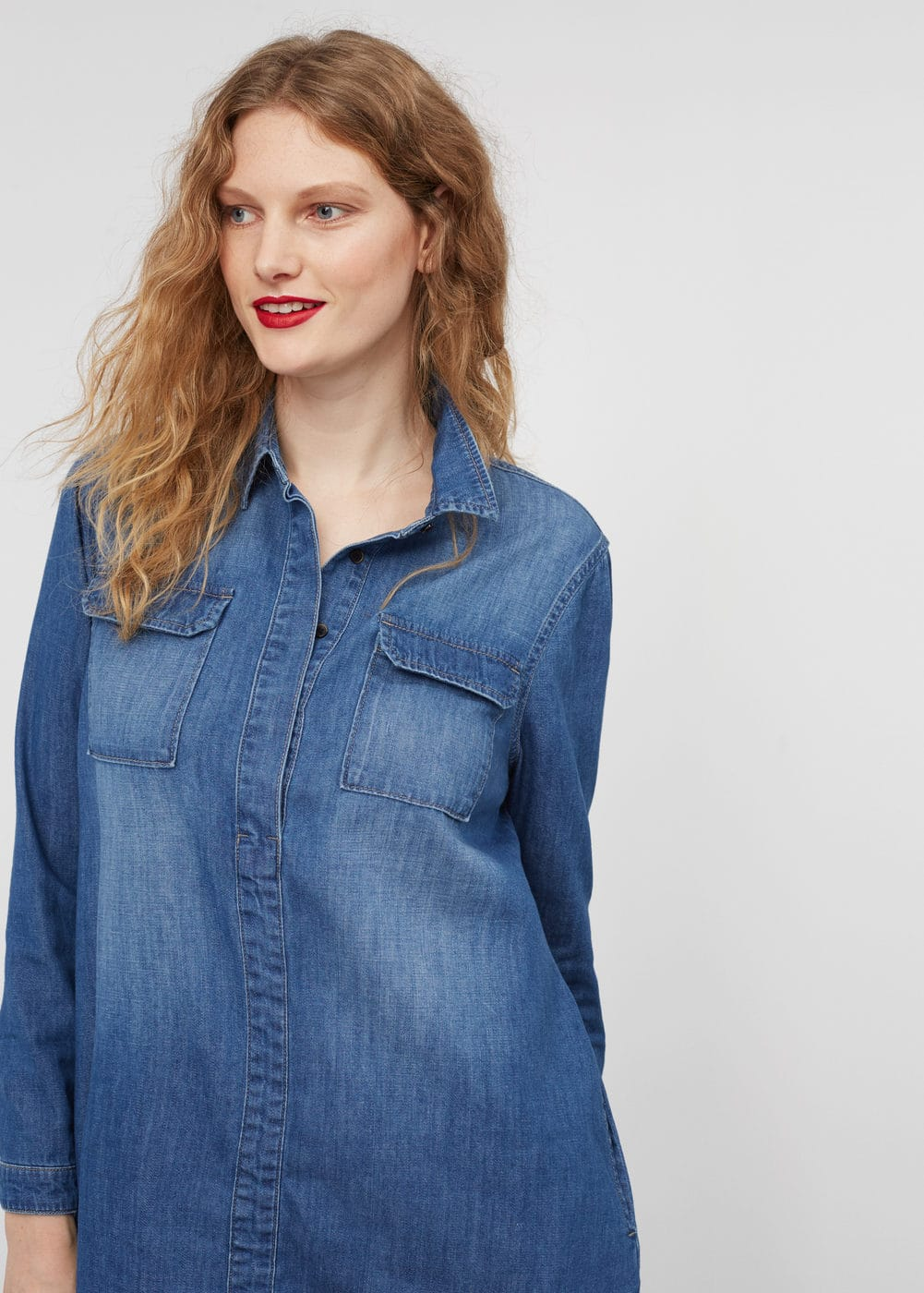 Pocket denim dress | VIOLETA BY MANGO