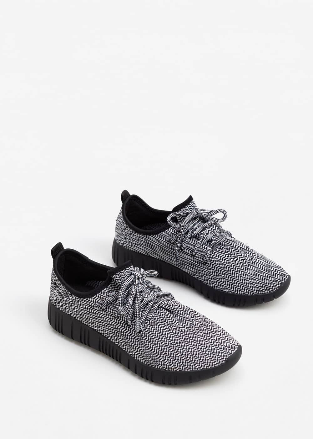 Herringbone pattern sneakers | MANGO