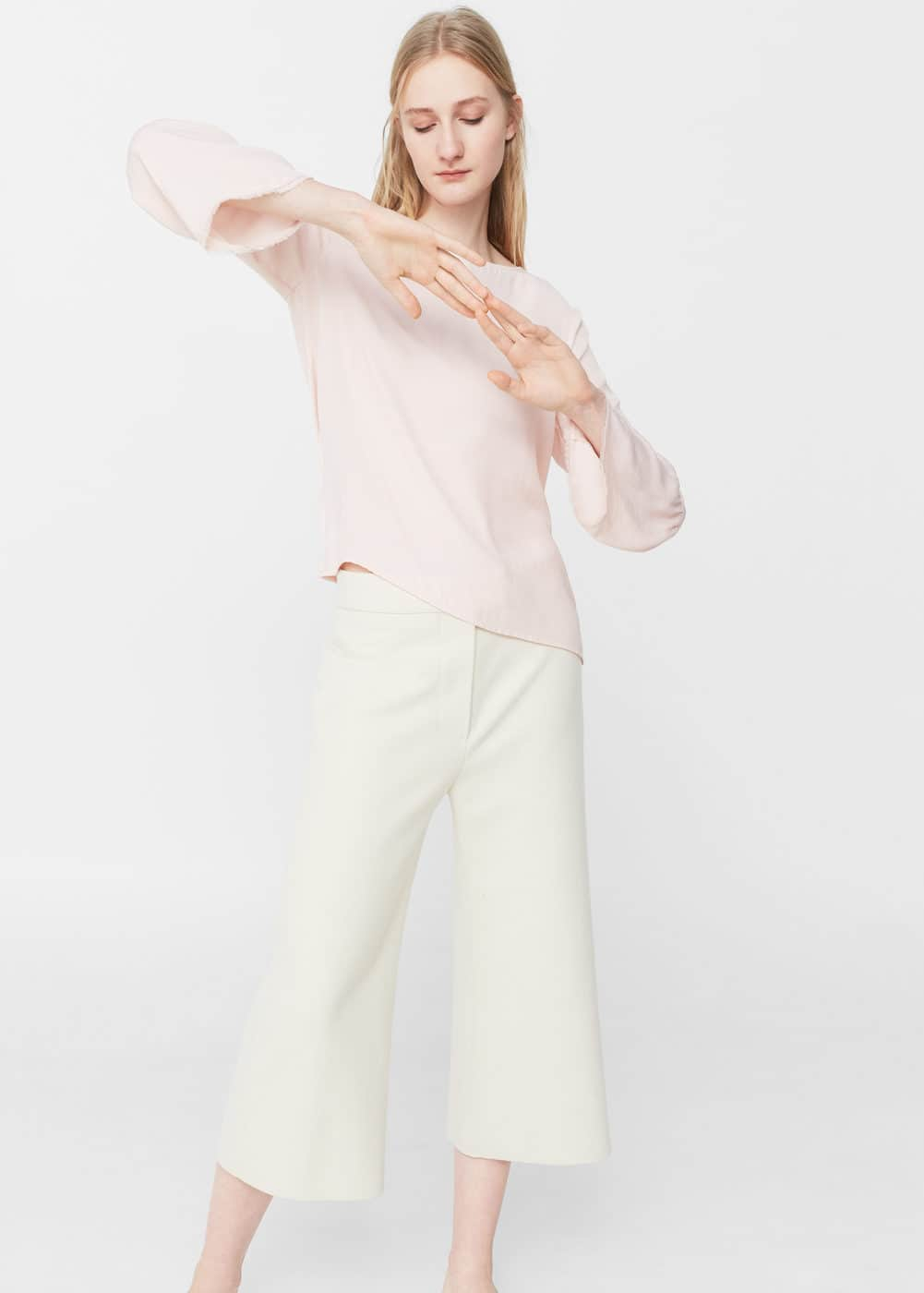 Flared sleeve blouse | MANGO