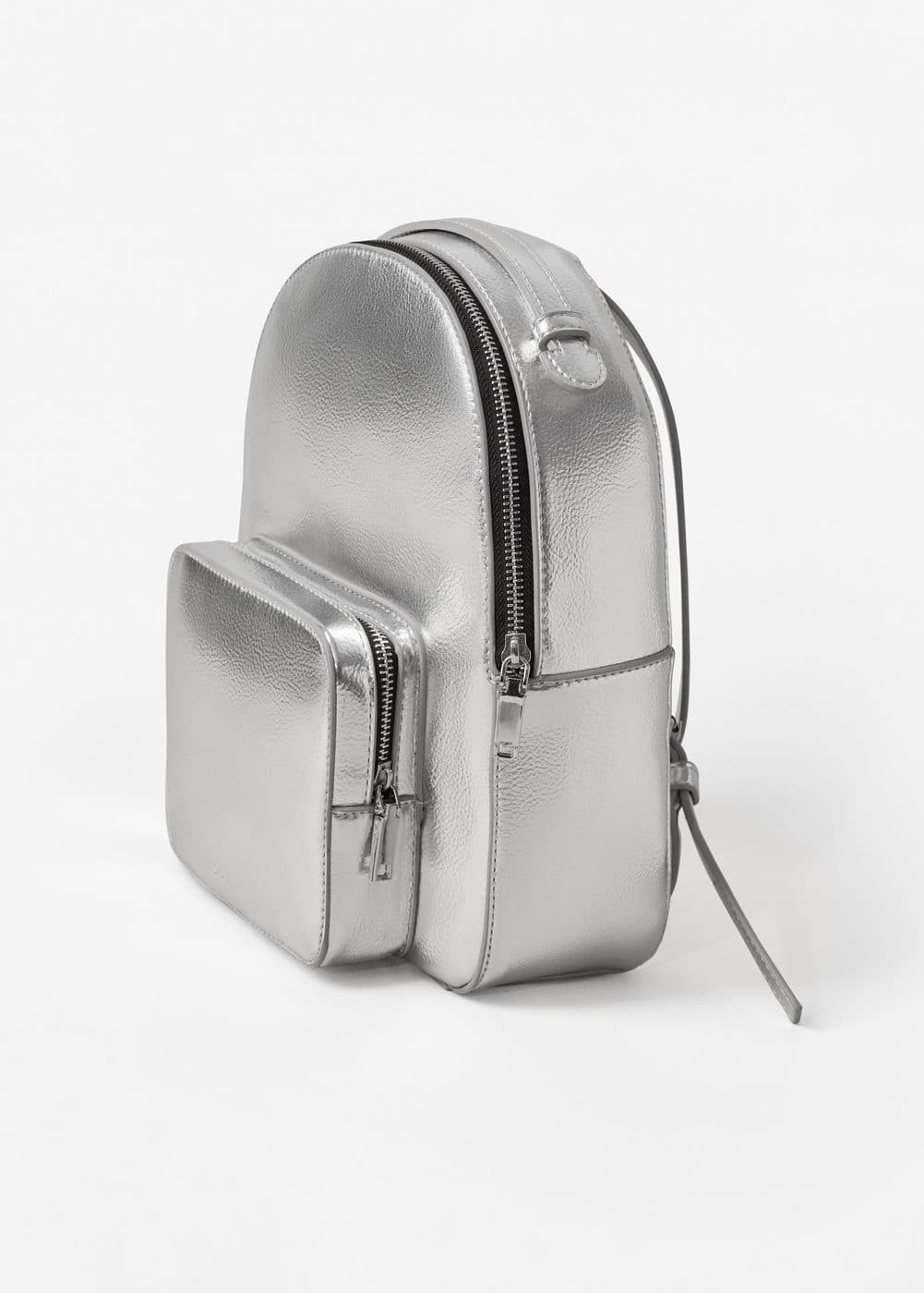 Zip pebbled backpack | MANGO