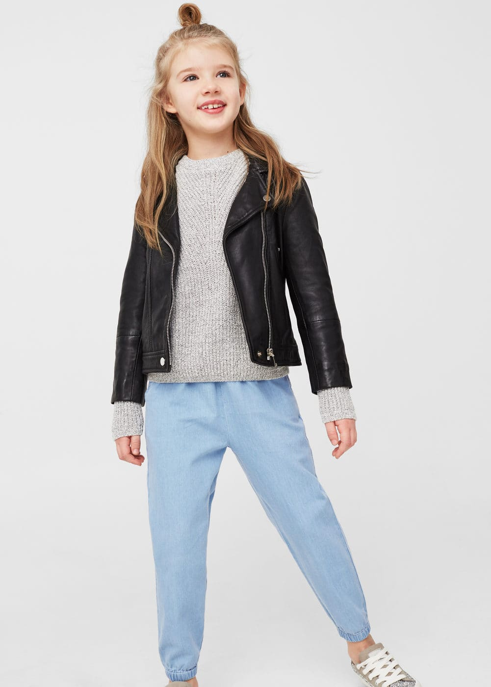 Pantalón baggy denim | MANGO KIDS