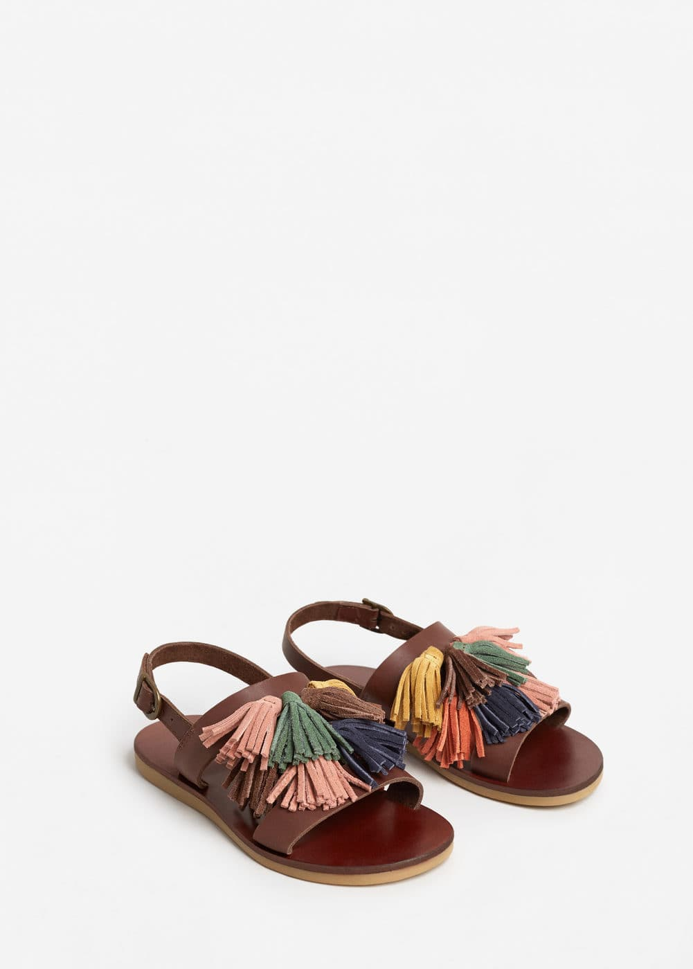 Tassel leather sandals | MANGO KIDS