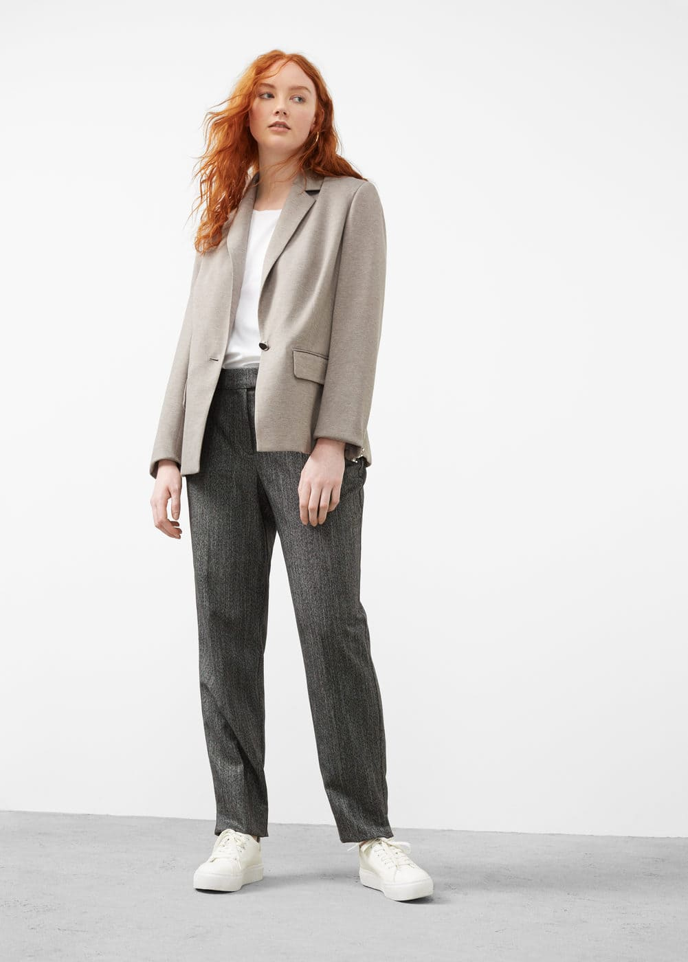 Essential structured blazer | VIOLETA BY MANGO