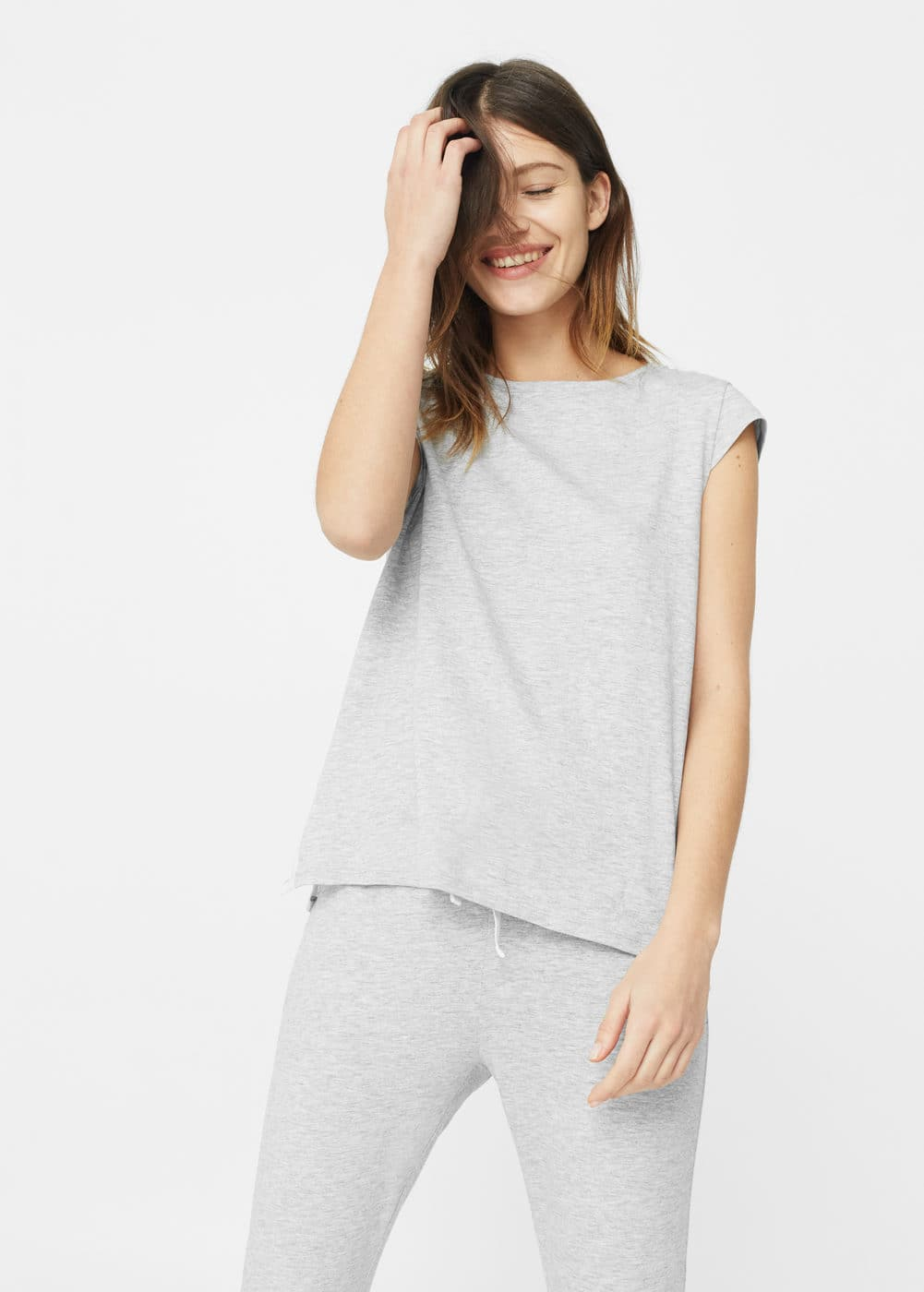 Blond detail t-shirt | MANGO