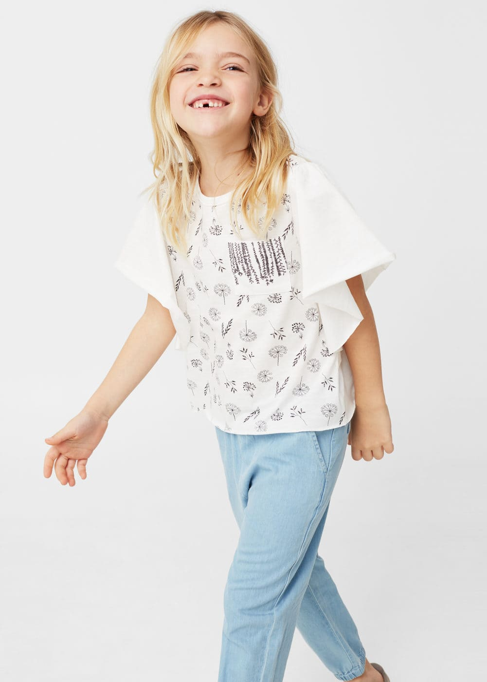 Dolman sleeve t-shirt | MANGO KIDS
