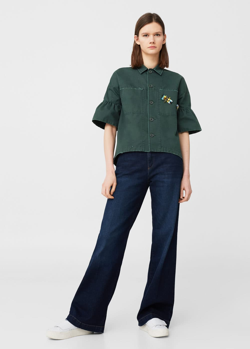 Bead embroidered overshirt | MANGO