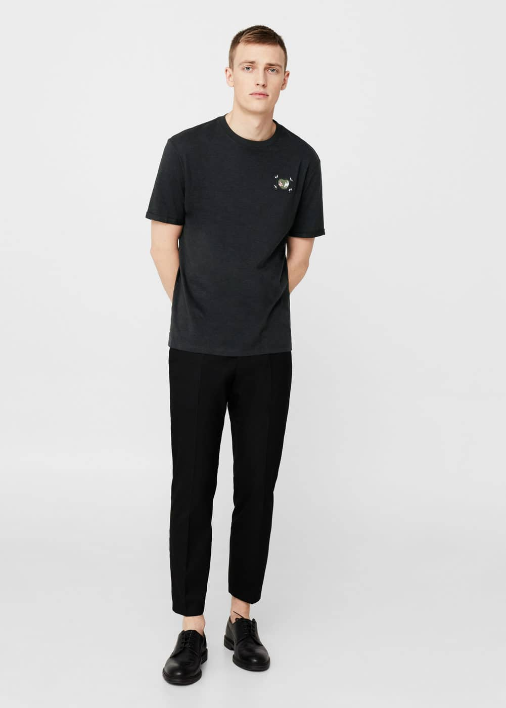 Patch t-shirt | MANGO MAN