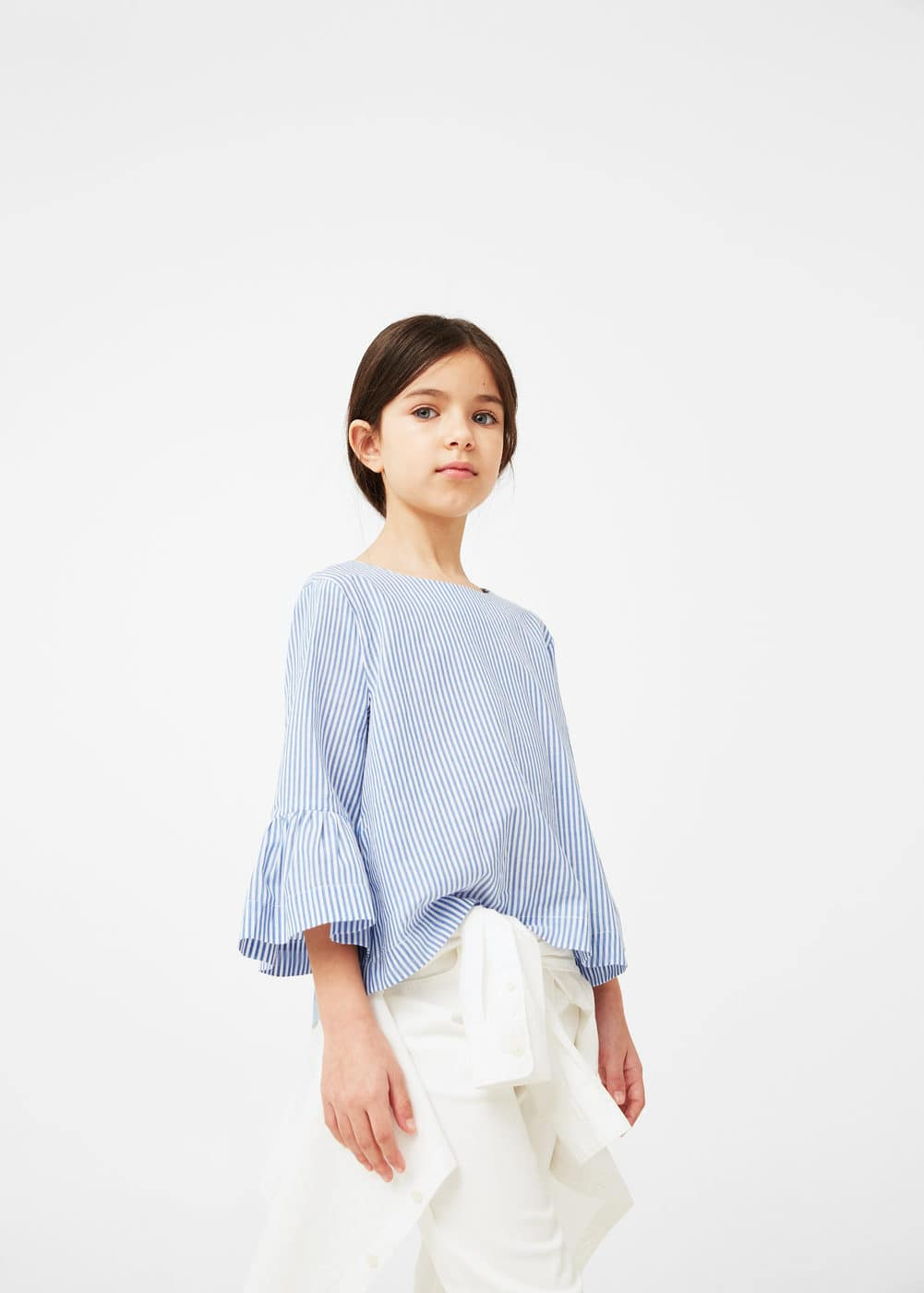 Striped cotton shirt | MANGO KIDS