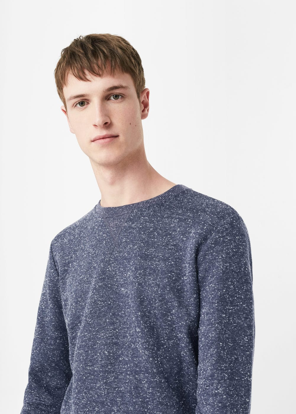 Flecked sweatshirt | MANGO MAN