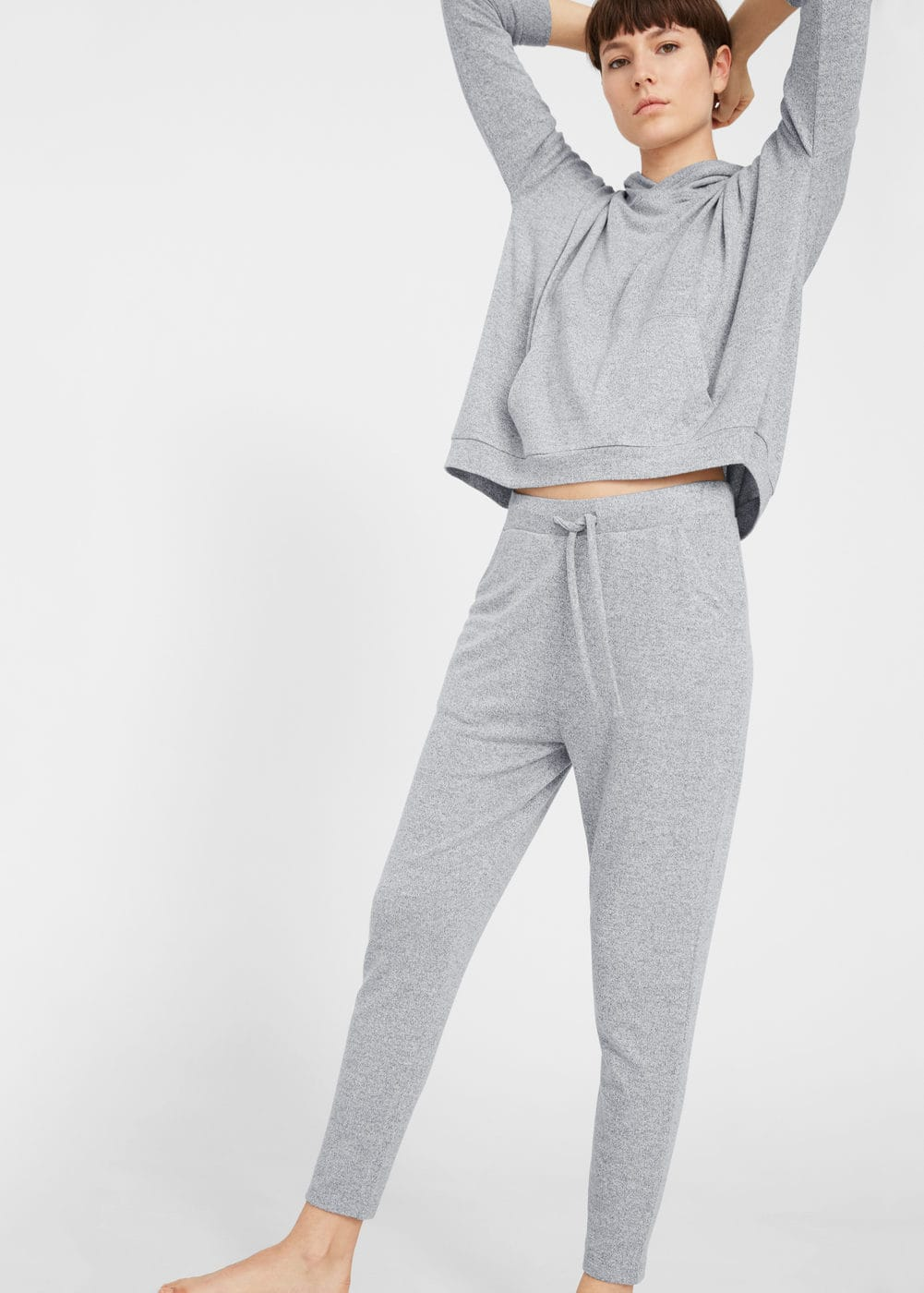 Flecked jogging trousers | MANGO
