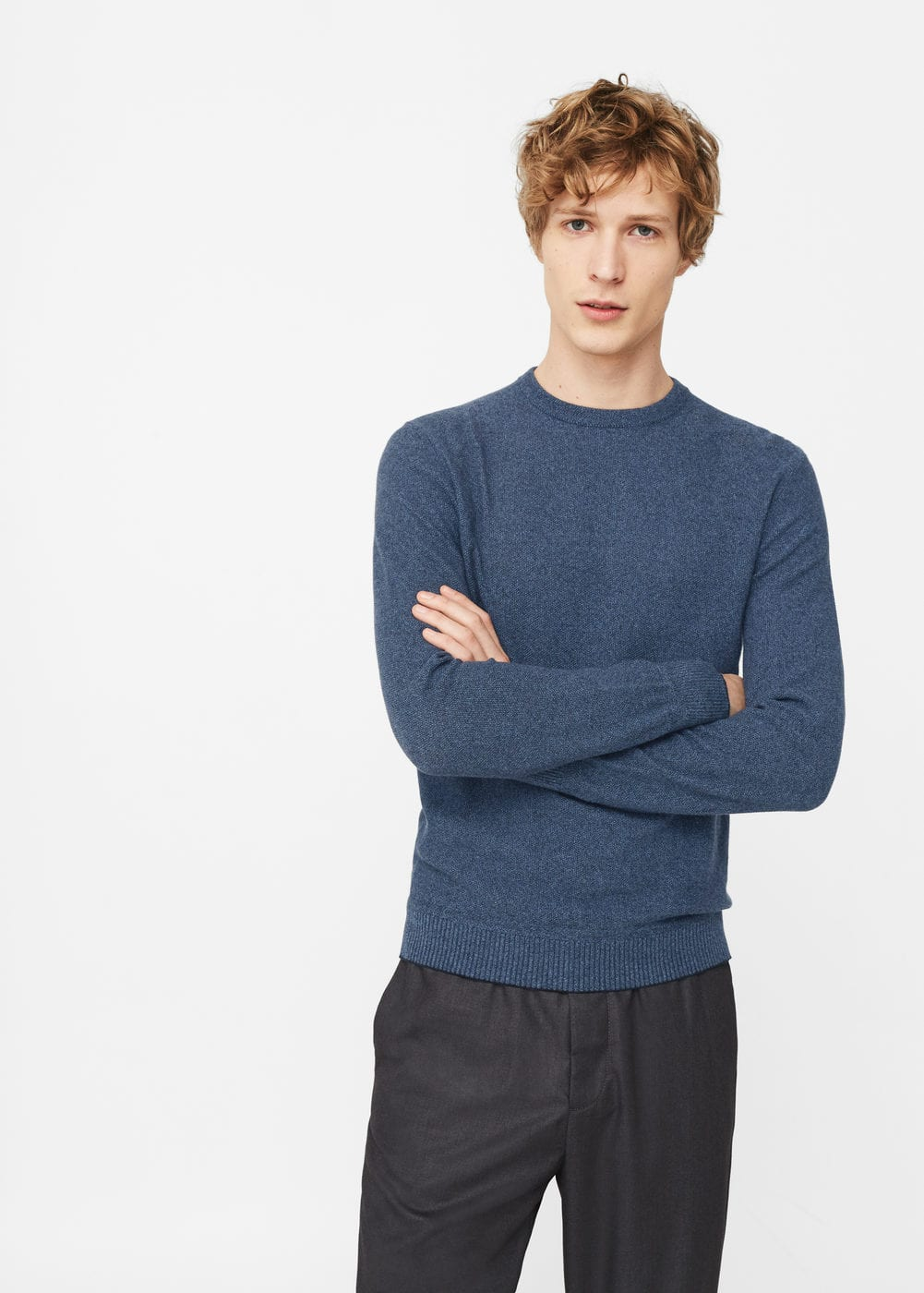 Fine-knit cotton sweater | MANGO