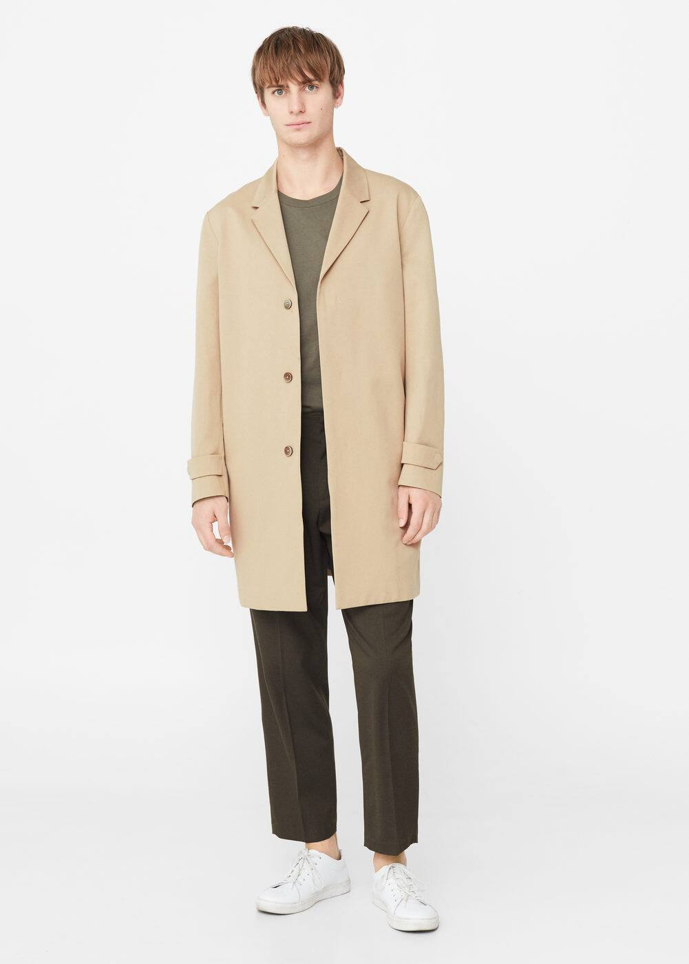 Lightweight cotton trench | MANGO MAN