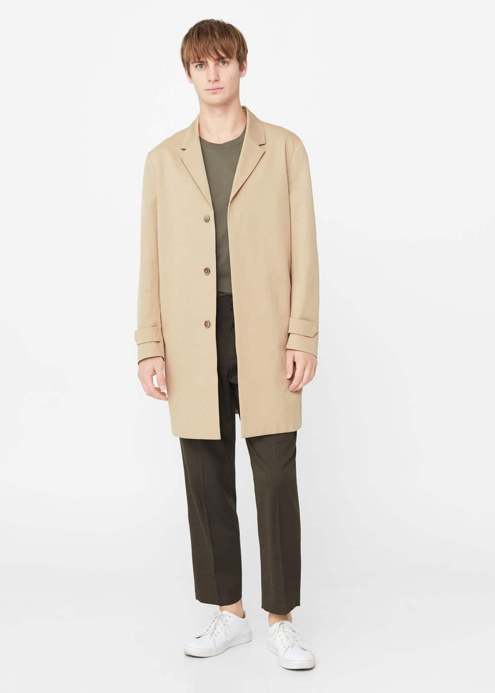 Lightweight cotton trench | MANGO