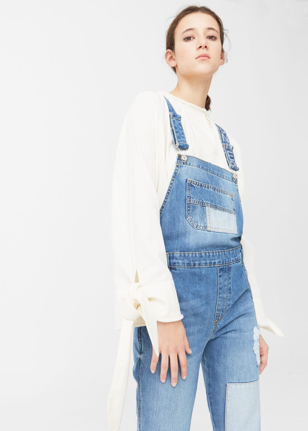 Medium denim jumpsuit | MANGO