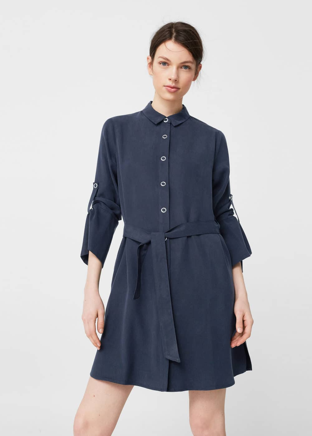 Flowy shirt dress | MANGO