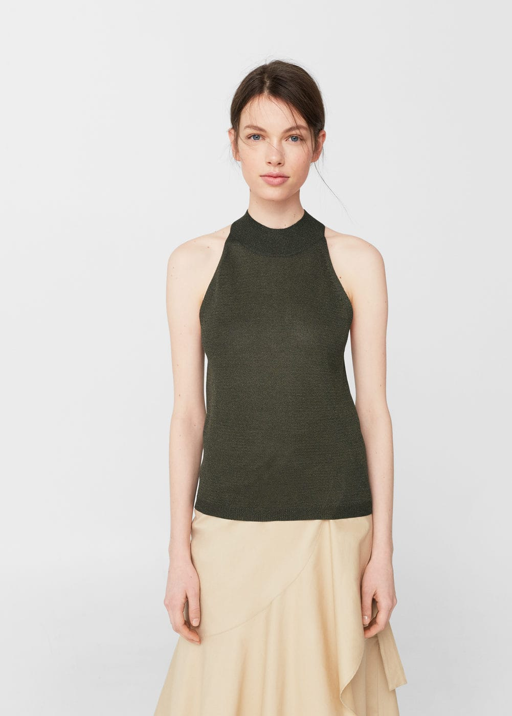 Halter neck top | MANGO