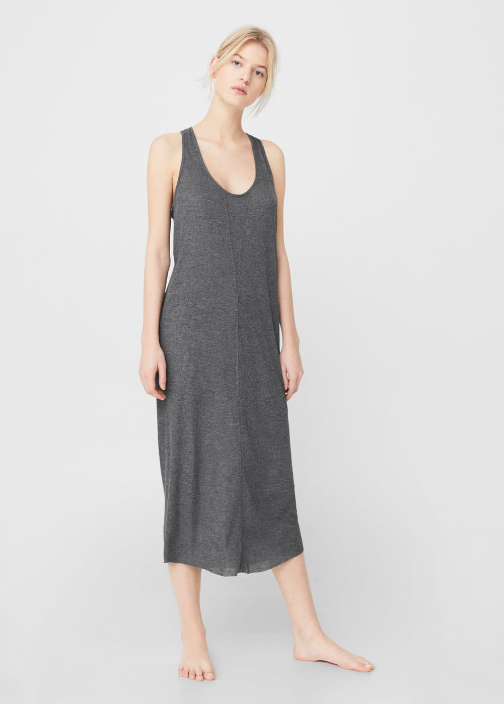 Ribbed midi dress | MANGO