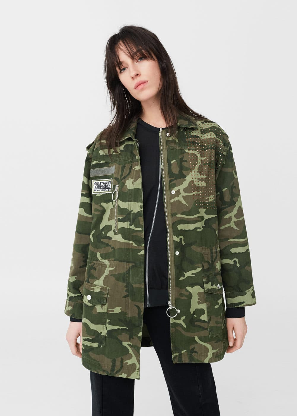 Patched camo jacket | MANGO