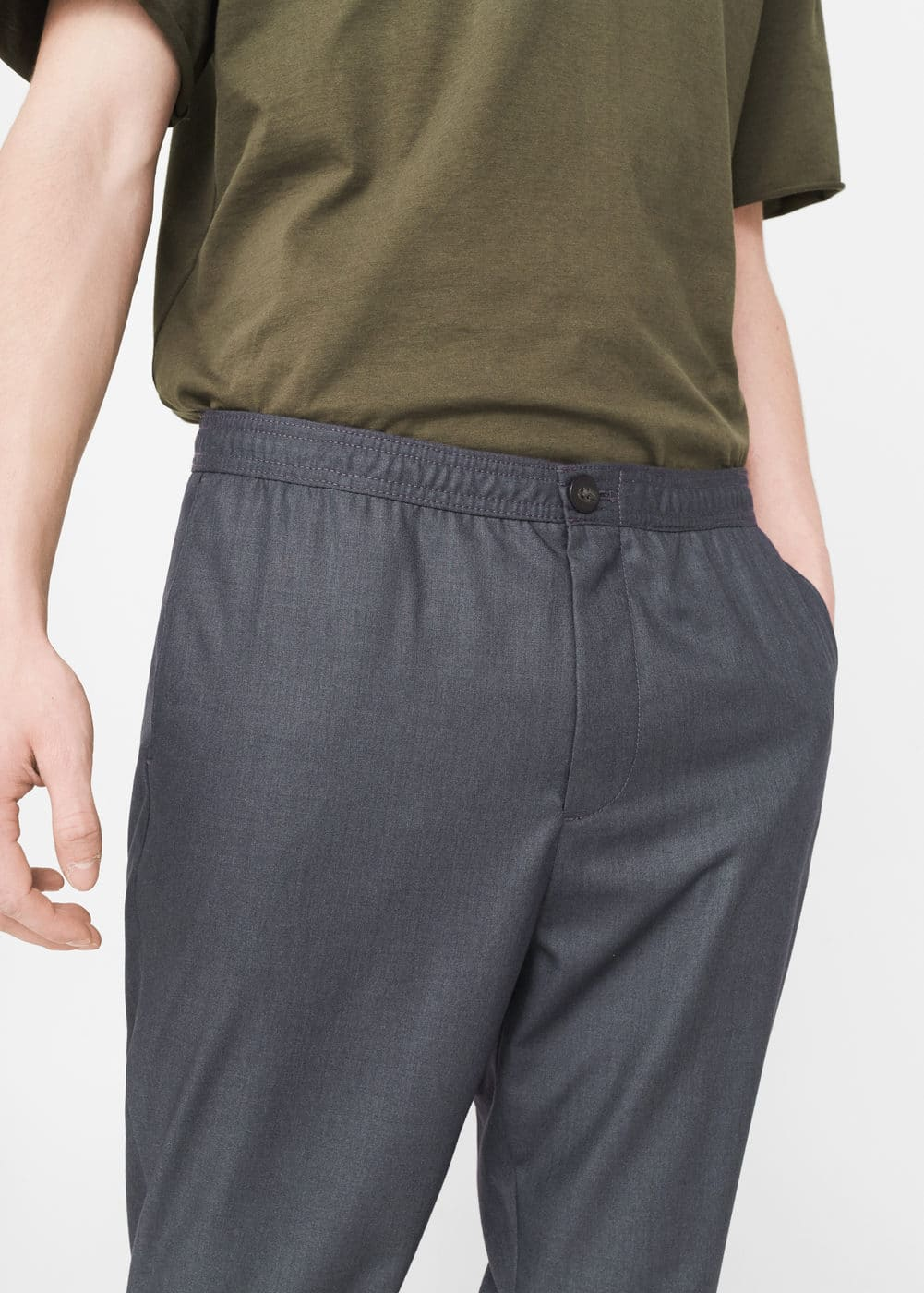 Chinos-style jogging trousers | MANGO
