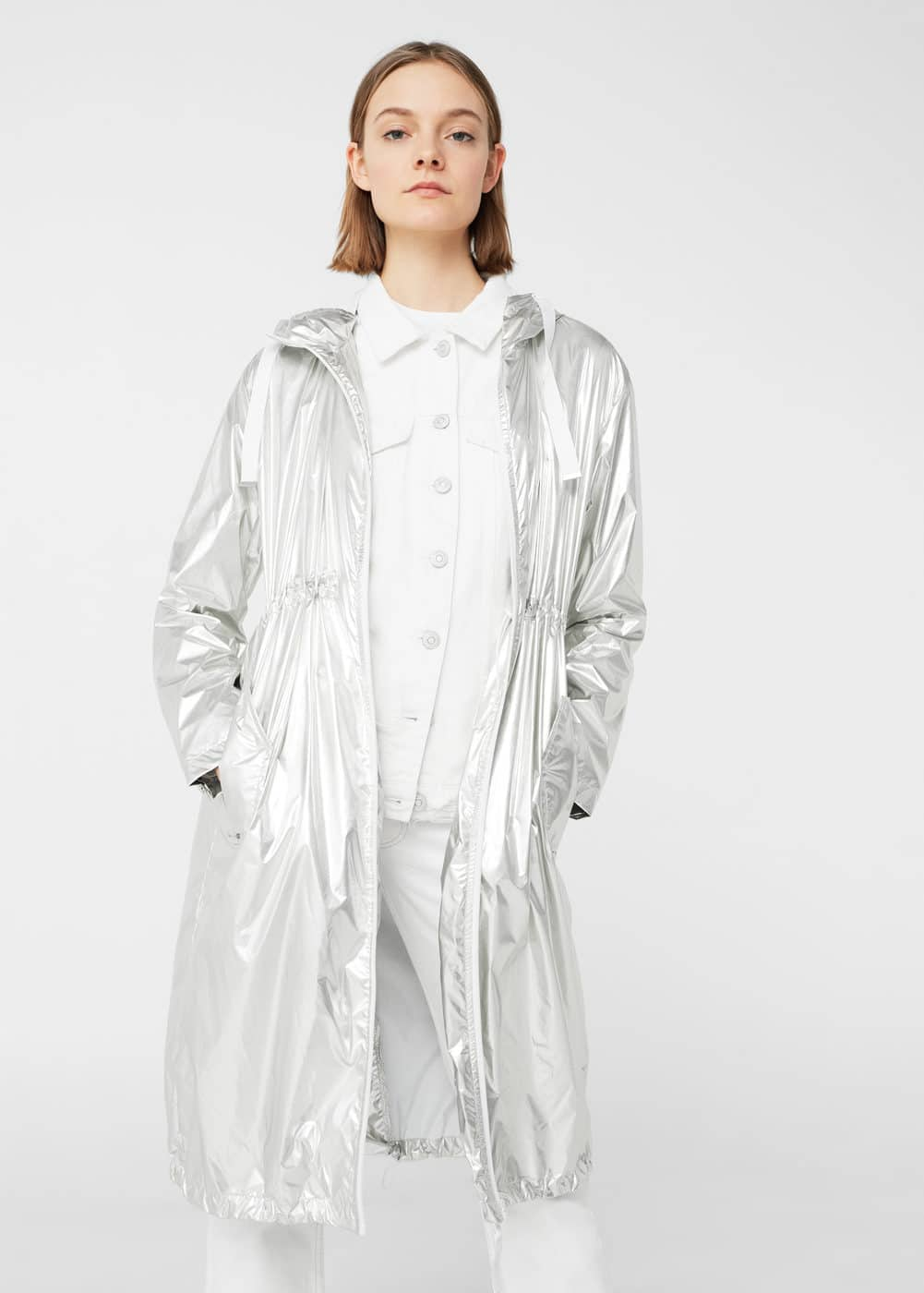 Light metallic parka | MANGO