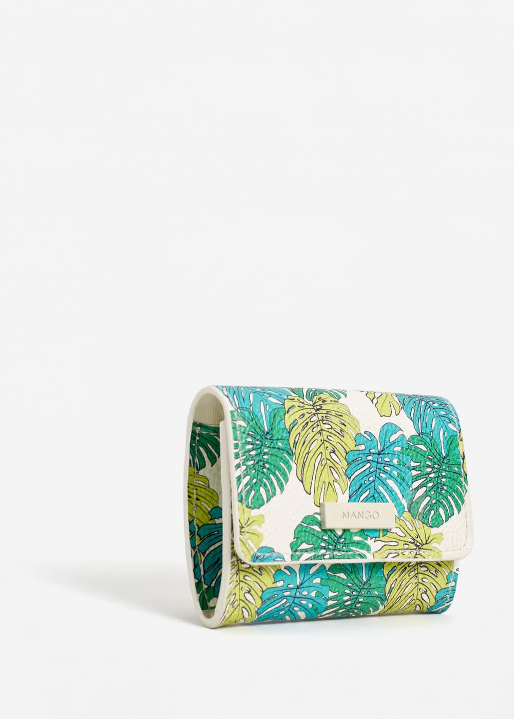 Leaf print coin purse | MANGO