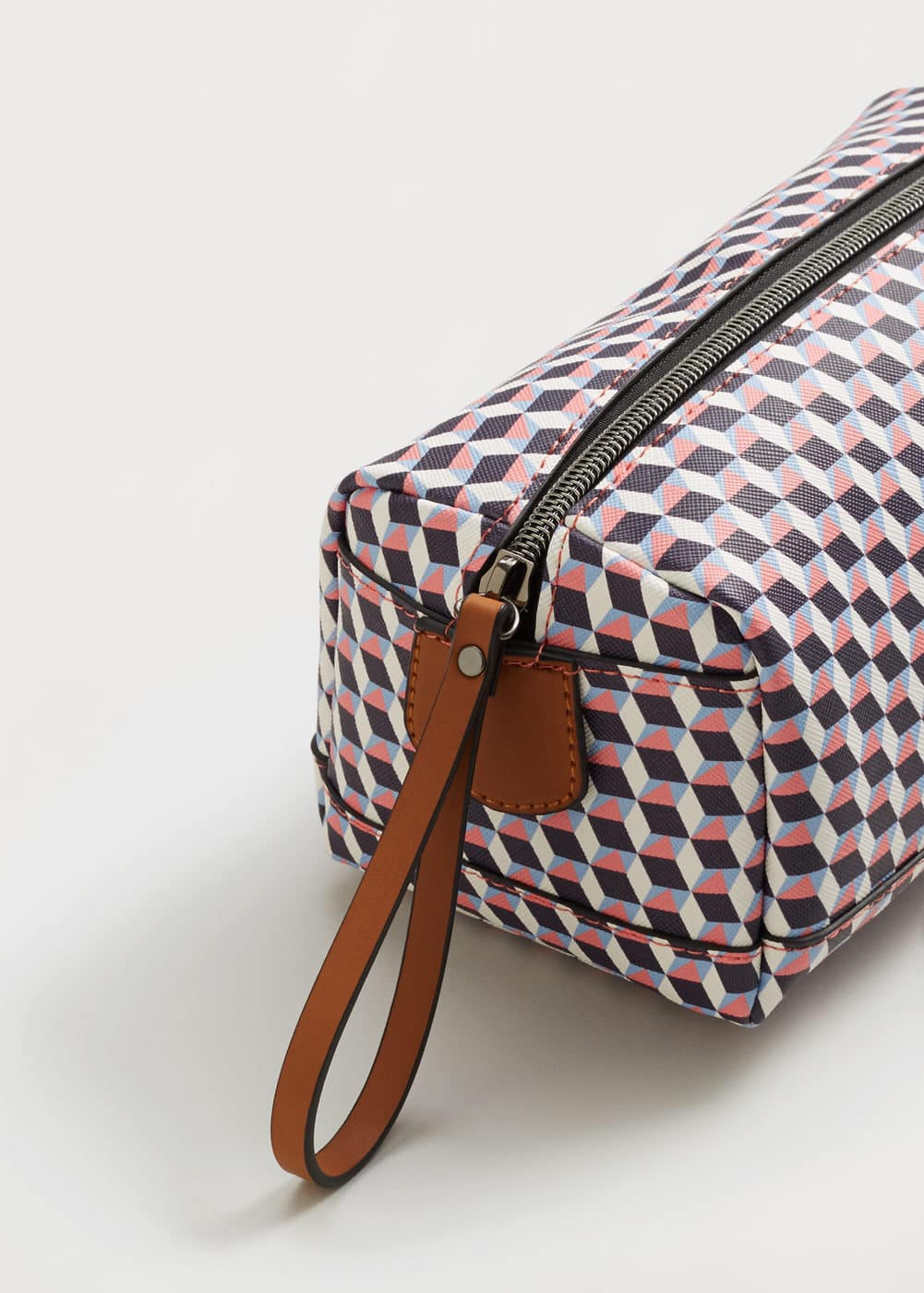 Geometric print cosmetic bag | VIOLETA BY MNG
