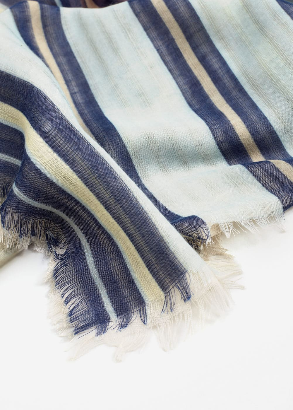 Stripes lightweight scarf | MANGO